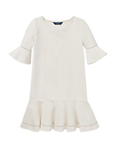Ralph Lauren - Girls' Ponte Bell-Sleeve Drop-Waist Dress - Big Kid