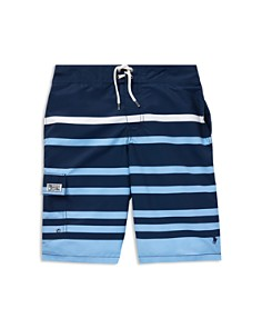 Ralph Lauren - Boys' Kailua Striped Swim Trunks - Big Kid
