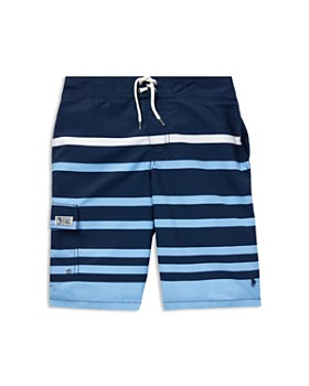 Ralph Lauren - Boys  Kailua Striped Swim Trunks - Big Kid ... 022b11393ad