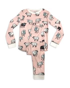 PJ Salvage - Girls' Sheep-Print Pajama Shirt & Pants Set - Little Kid, Big Kid