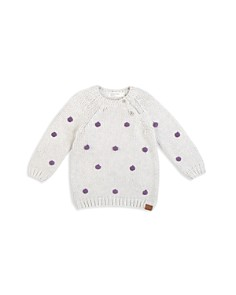 Miles Baby - Girls' Pom-Pom Sweater - Baby