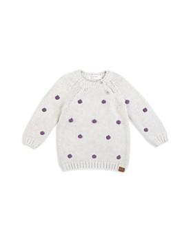 Miles Baby - Girls' Pom-Pom Sweater - Baby