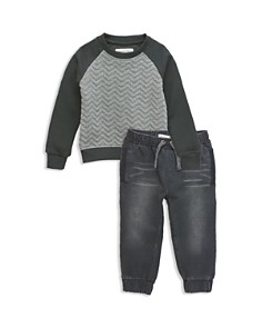 Sovereign Code - Boys' Chevron Sweatshirt & Faded Jogger Pants Set - Baby