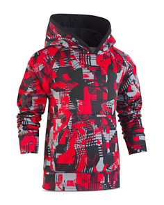 Under Armour - Boys' Abstract-Print Big Logo Fleece Hoodie - Little Kid
