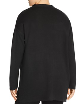 Eileen Fisher Plus - Draped Open Front Cardigan