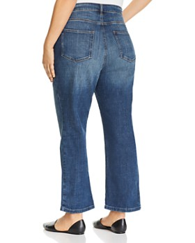 Eileen Fisher Plus - Bootcut Ankle Jeans in Aged Indigo