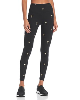 Spiritual Gangster - Perfect High-Waist Metallic Floral Print Leggings