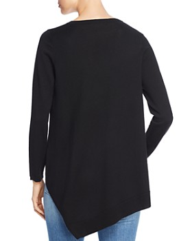 Eileen Fisher - Merino Wool Angled-Hem Top - 100% Exclusive