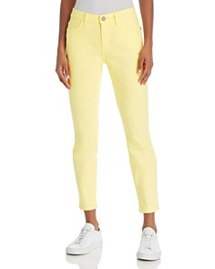 Current/Elliott - The Stiletto Ankle Skinny Jeans in Acid Yellow