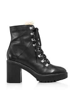 AQUA - Women's Roy Faux Fur Platform Ankle Boots - 100% Exclusive
