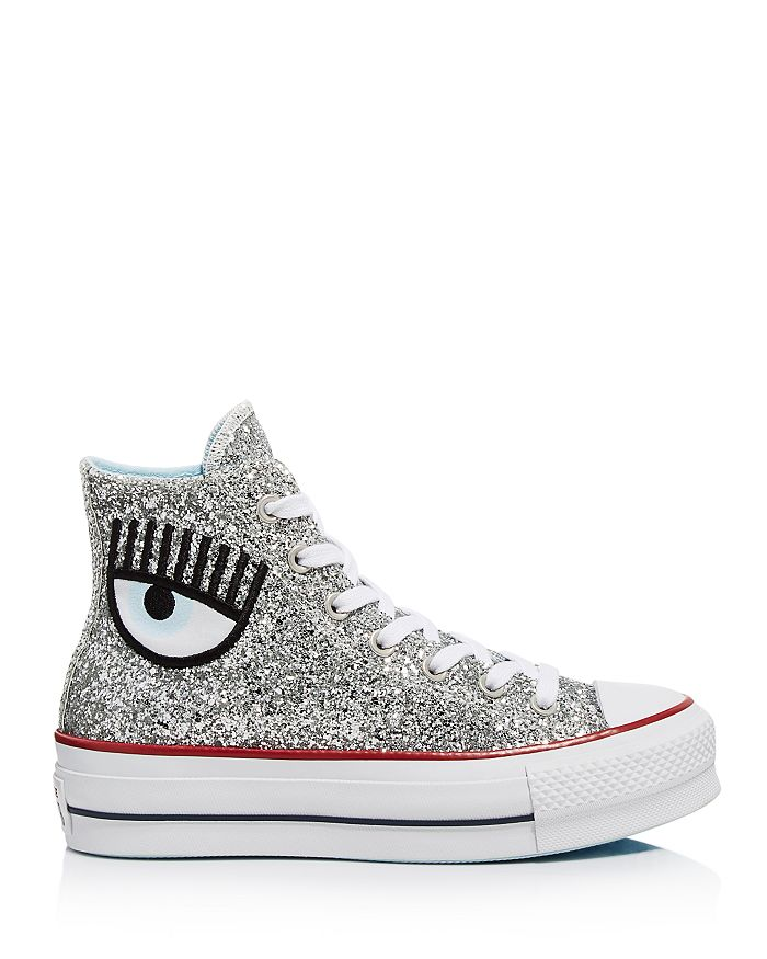 low priced dcdad f21e3 Converse - x Chiara Ferragni Women s Chuck Taylor Glitter High Top Sneakers