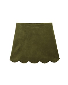 AQUA - Girls' Faux-Suede Scalloped-Hem Skirt, Big Kid - 100% Exclusive