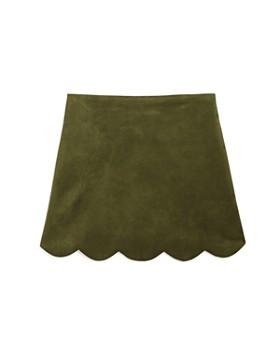 AQUA - Girls' Faux-Suede Scalloped-Hem Skirt, Big Kid - 100% Exclusive