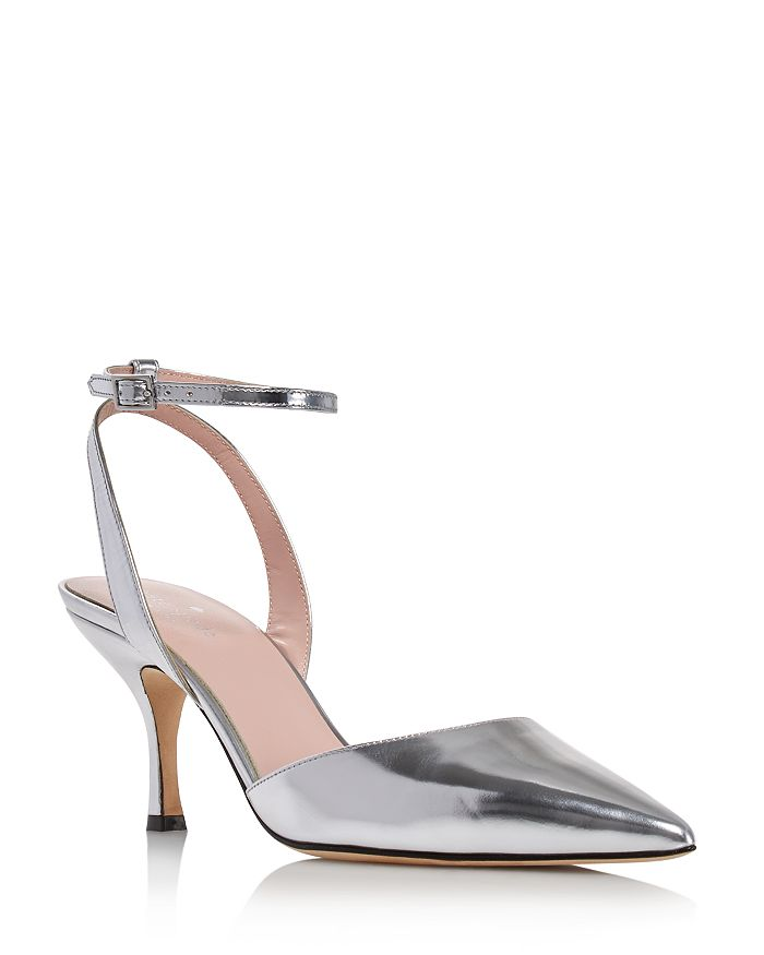 kate spade new york - Women's Simone Pointed-Toe Ankle-Strap Leather Pumps