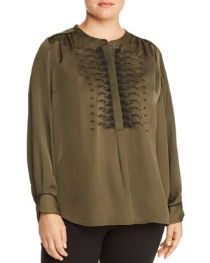 Lucky Brand Plus Embroidered Top