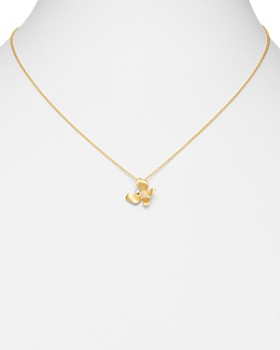 Bloomingdale's - Diamond Butterfly Pendant Necklace in 14K Textured Yellow Gold, 0.05 ct. t.w. - 100% Exclusive