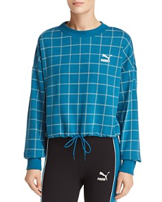 PUMA - Revolt Windowpane Logo Sweatshirt