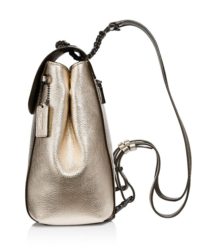 84d008d135a6 COACH - Parker Metallic Leather Backpack