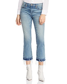 BLANKNYC - Kick High-Rise Layered-Hem Flared Jeans in The Plastics