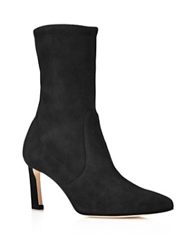 Stuart Weitzman - Rapture Mid Calf Stretch Suede Booties