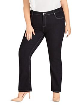 5005445418dcf City Chic Plus - Straight-Leg Jeans in Dark Denim ...