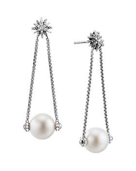 David Yurman - Starburst Pearl Drop Earrings with Diamonds
