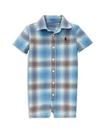 b31f99a08 Ralph Lauren Boys' Plaid Cotton Twill Shortall - Baby   Bloomingdale's