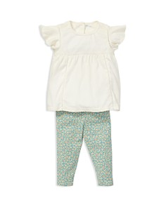 Ralph Lauren - Girls' Flutter-Sleeve Top & Floral Leggings Set - Baby