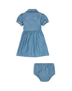 Ralph Lauren - Girls' Ruffled Chambray Shirt Dress & Bloomers Set - Baby