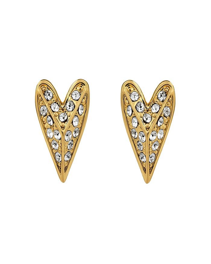 KARL LAGERFELD Paris - Pyramid Heart Earrings