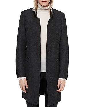 Allsaints Lyla Suede-Collar Coat