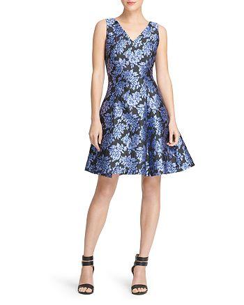 Donna Karan - Floral Jacquard Skater Dress