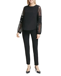 Calvin Klein - Lace-Sleeve Top