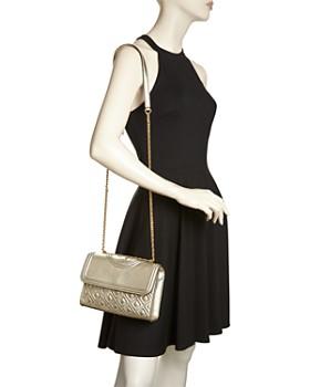 Tory Burch - Fleming Small Metallic Leather Shoulder Bag