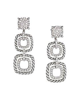 David Yurman - Châtelaine®  Full Pavé Diamond Triple Drop Earrings