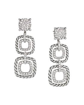 David Yurman - Chatelaine Full Pavé Diamond Triple Drop Earrings