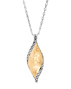 """JOHN HARDY - 18K Yellow Gold & Sterling Silver Classic Chain Hammered Wave Pendant Necklace, 18"""""""