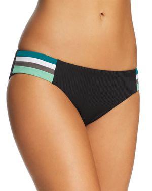 BECCA BY REBECCA VIRTUE Becca By Rebecca Virtue Ribbed American Bikini Bottom in Black
