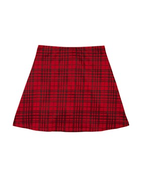 AQUA - Girls' Plaid Skirt, Big Kid - 100% Exclusive