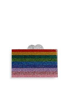GiGi - Girls' Rainbow-Striped Glitter Box Bag - 100% Exclusive