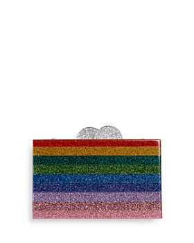 GiGi - Girls' Rainbow-Striped Glitter Box Bag - 100% Exclusive
