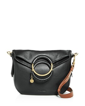 See By Chloé Monroe Ring Handle Convertible Leather Shoulder