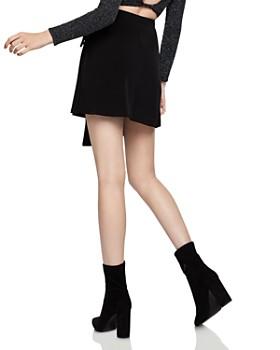 BCBGeneration - Asymmetric Faux-Wrap Mini Skirt