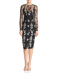 BRONX AND BANCO - Floral Embroidered Dress