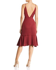 WAYF - Faux-Wrap Flounced-Hem Dress - 100% Exclusive