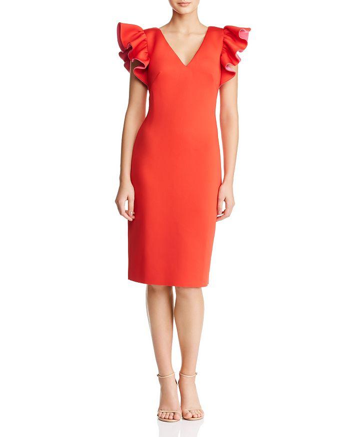 Eliza J - Ruffled Scuba Dress