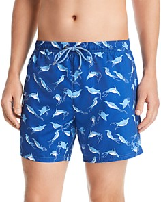 BOSS - Piranha Penguin-Print Swim Shorts