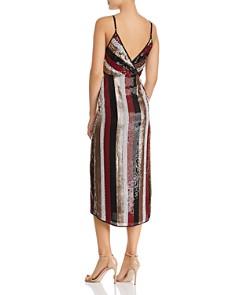 AQUA - Sequined Stripe Dress - 100% Exclusive