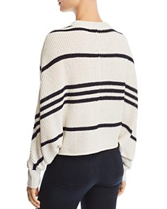 AQUA - Striped Dolman-Sleeve Sweater - 100% Exclusive