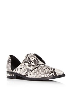 """Freda Salvador - Women's """"Wear Laceless d'Orsay"""" Croc-Embossed Leather Oxfords"""